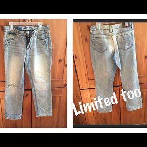 Limited T00 Girls Ripped Jeans